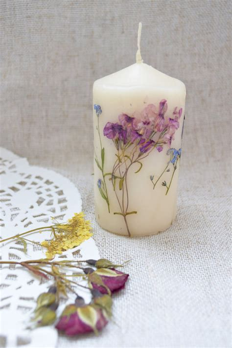 Wedding Decor Flower Candles by Floral Candle Flower Candles Wedding Decor Favors