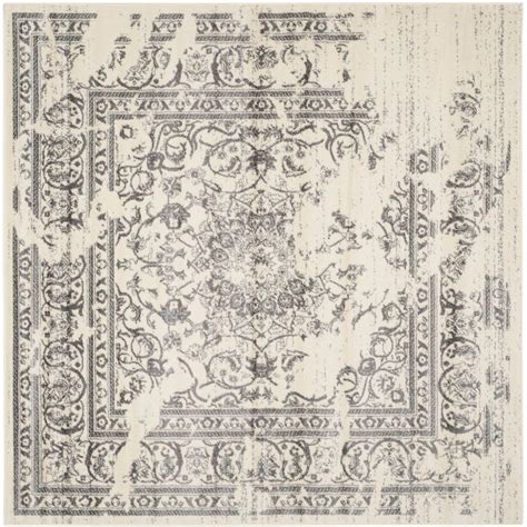 8 x 8 square area rugs safavieh adirondack ivory silver 8 ft x 8 ft square area rug adr101b 8sq the home depot