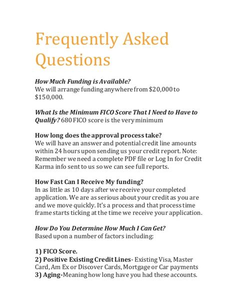 frequenty asked questions frequently asked questions new business funders