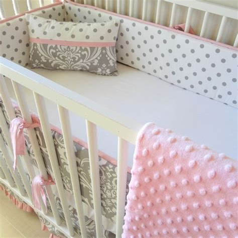 pink and gray crib bedding sets pink and gray damask crib baby bedding set