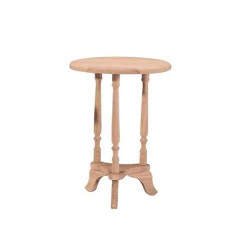 unfinished accent table international concepts unfinished round accent table ot