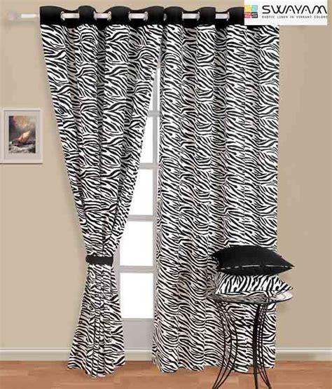 zebra print curtains swayam zebra print curtain buy swayam zebra print