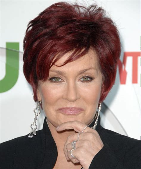 how to get osbournes haircolor sharon osbourne short layered a vibrant but not