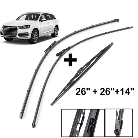 windscreen wiper blades set front rear kit set fit  audi   ebay