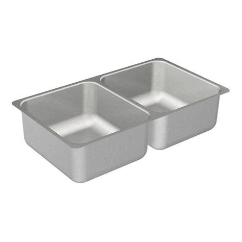 moen kitchen sinks undermount moen 2000 series undermount stainless steel 31 25 in