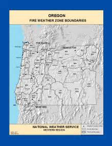 oregon weather map maps oregon weather zone boundaries