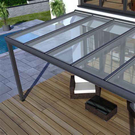 Terrassendach Alu Glas by Alu Terrassendach Premium 6060mm X 3500mm F 252 R Vsg Glas