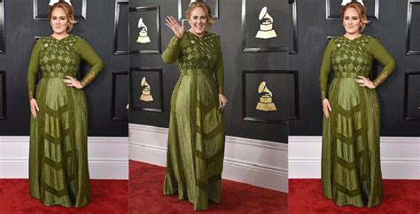 desain gaun red carpet grammy awards 2017 melangkah di red carpet adele curi