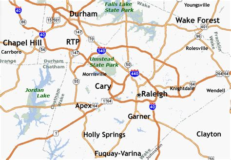 map of nc and surrounding area triangle map st raleigh homes
