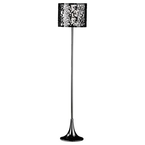 black tall standing buy tall floor l with black and white shade from fusion