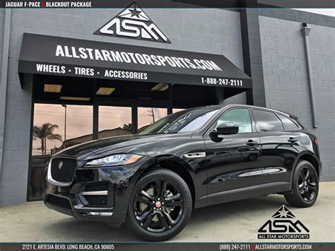 jaguar f pace blacked out jaguar f pace blackout package all motorsports