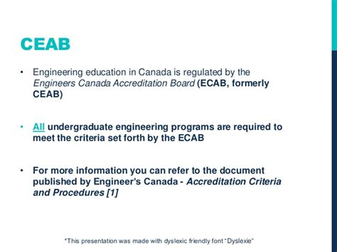 engineers canada accreditation board engineering education overview