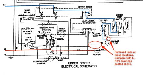 maytag mle2000ayw dryer schematic corrected the