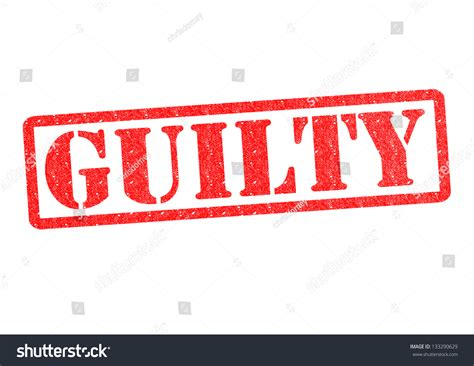 Arrested But Not Convicted Background Check Guilty Rubber St White Background Stock
