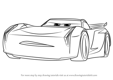 Cars 3 Sketches by Learn How To Draw Jackson From Cars 3 Cars 3 Step