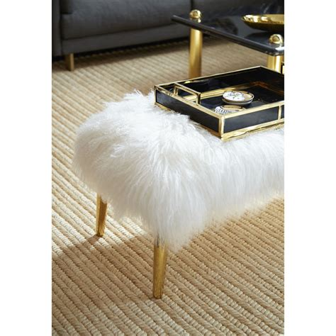 mongolian lamb bench large mongolian lamb bench modern furniture jonathan adler