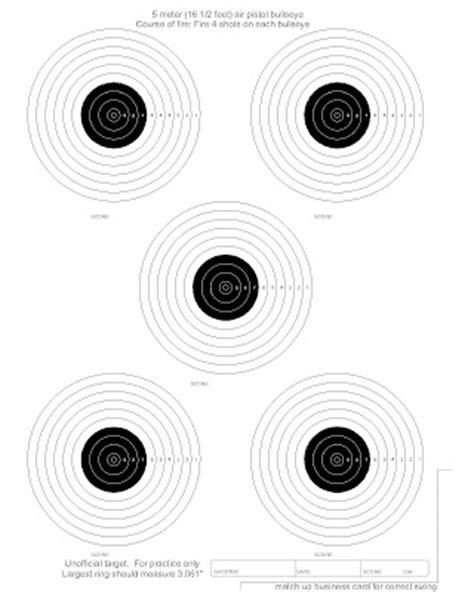 printable match targets free targets airgun 5 meter postal match target