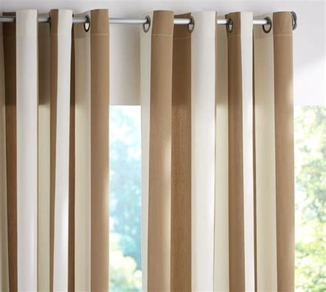 curtain wire system pottery barn pb classic stripe indoor outdoor grommet drape pottery barn