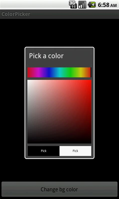 setbackgroundcolor android android simple colorpicker for android