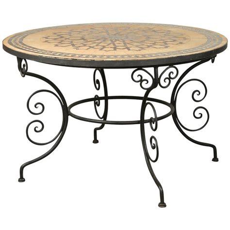 moroccan tile outdoor table moroccan mosaic outdoor tile table on iron base 47