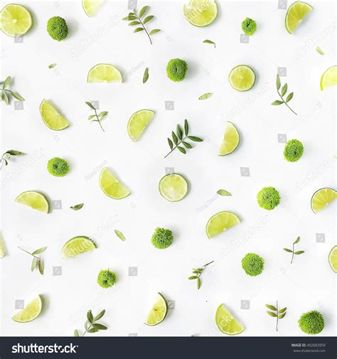 stock pattern viewer lime green branches pattern on white stock photo 492683959