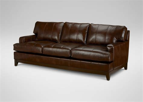 Ethan Allen Leather Sofa Ethan Allen Leather Sofa Indeliblepieces