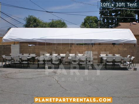 table and chair rentals san fernando valley 10ft x 30ft party tent