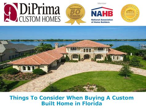best places to buy a house in florida things to consider when buying a custom built home in