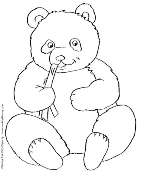 wild animal coloring pages cute panda bear coloring page