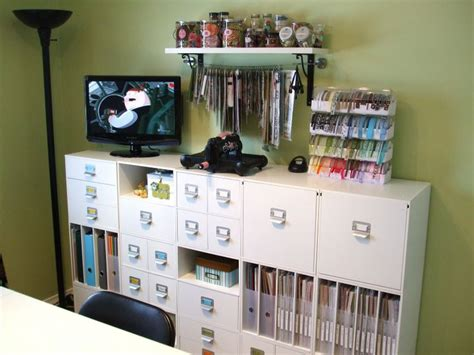 17 best images about scrapbook rooms on storage ideas crafts and handicraft