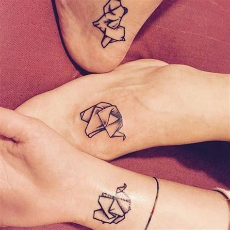 geometric tattoo friendship best friend tattoos 110 super cute designs for bffs
