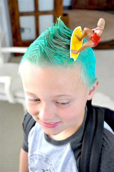 surfer kids hair styles for boys kara s party ideas crazy hair day ideas surf s up bugs