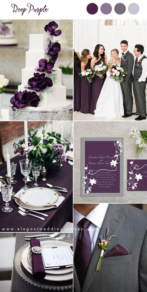 pretty shades  purple wedding color combos