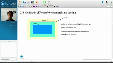 css tutorial margin padding css the difference between padding and margin youtube