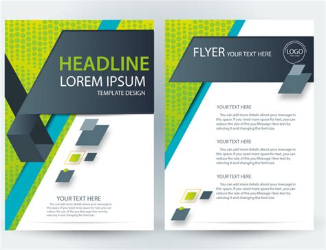 illustrator flyer template brochure free vector in adob