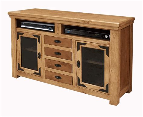 rustic lodge 63 tv stand rustic flat screen tv stand - Rustic Tv Stands For Flat Screens