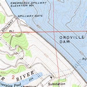 dams in california map oroville dam ca
