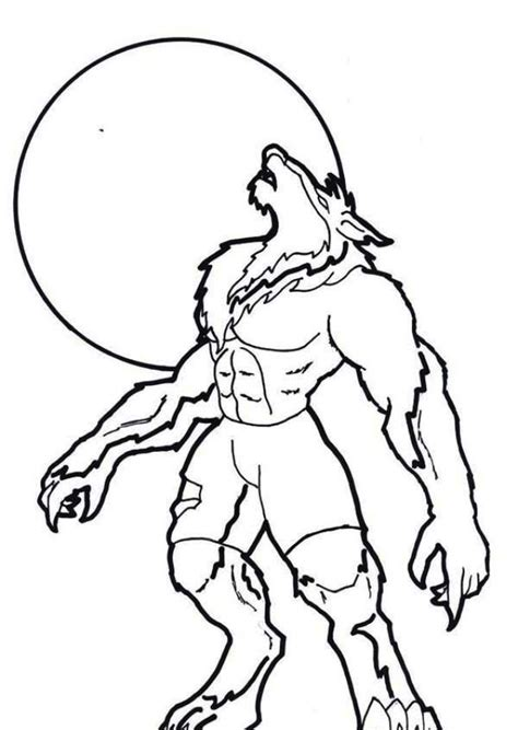 lego werewolf coloring pages werewolf howling under moon light coloring pages fantasy