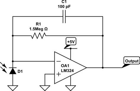 photodiode receiver circuit op photodiode lifier circuit electrical engineering stack exchange