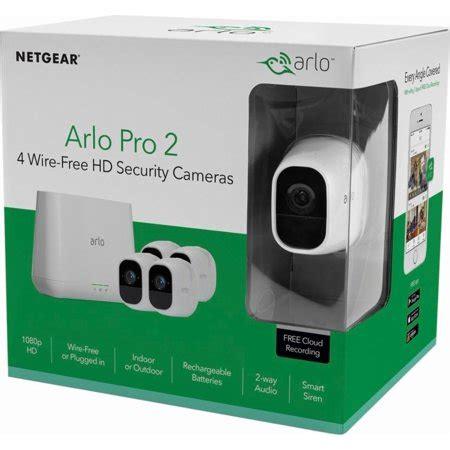 arlo vms4430p pro 2 security camera system, 4 camera kit