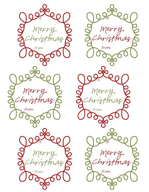 mommy  day crafter  night  printable christmas gift tags