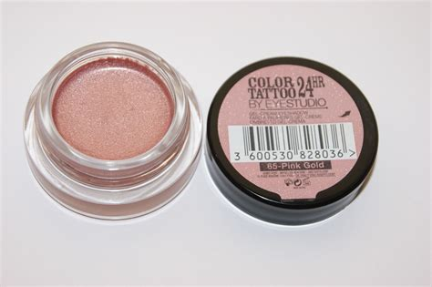 tattoo eyeshadow maybelline color 24hr eyeshadow in pink gold