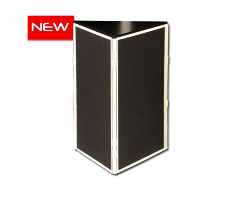 Wooden Room Dividers Triangular Display Stand Exhibition Stands Banner
