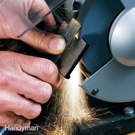 how to sharpen chisels on a bench grinder how to sharpen a chisel family handyman