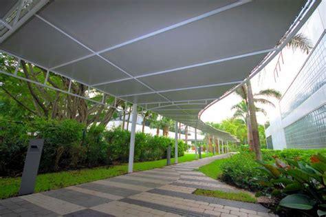 walkway awnings escalator canopies walkway covers miami awning