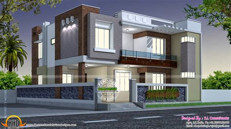contemporary home style house india home design modern style indian square feet