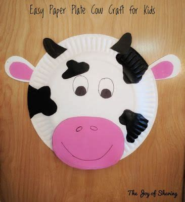Cow Paper Craft - paper plate cow craft cow craft paper plate crafts and