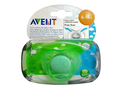 Avent Soother Freeflow 6 18 Mths X2 philips avent orthodontic soother 6 18 months