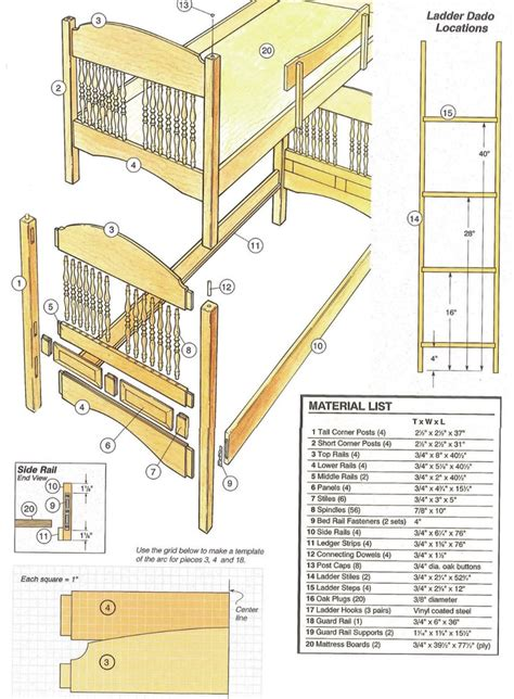 Free Bunk Bed Building Plans 43 Best Free Bunk Bed Plans Images On Bunk Bed Plans 3 4 Beds And Bed Storage