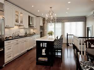 Transitional Kitchen Cabinets Black And White Transitional Kitchen Photos Hgtv